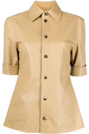 Bottega Veneta Short-sleeve leather shirt