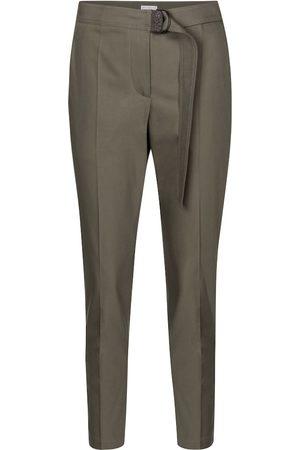 Brunello Cucinelli Pantalones ajustados de algodón