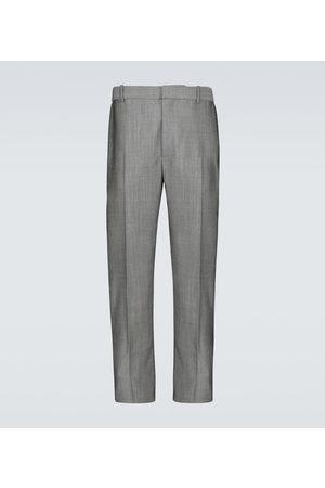 Alexander McQueen Pantalones de traje de lana y mohair