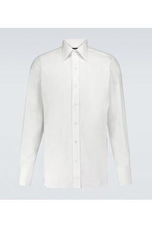 Tom Ford Camisa clásica de popelín de algodón