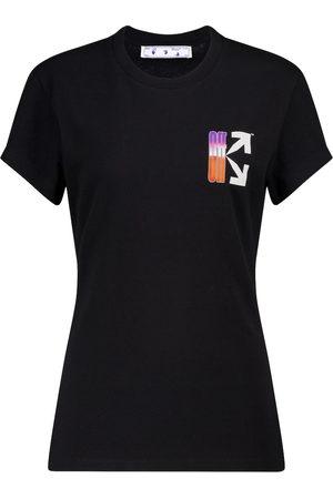 OFF-WHITE Camiseta de algodón con logo