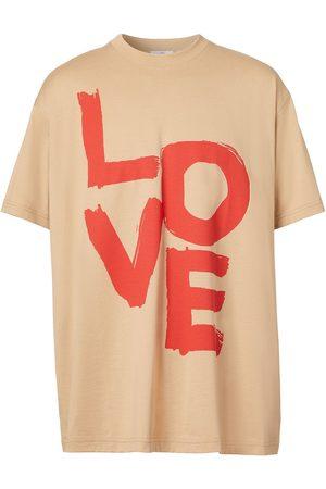 Burberry Camiseta con estampado Love