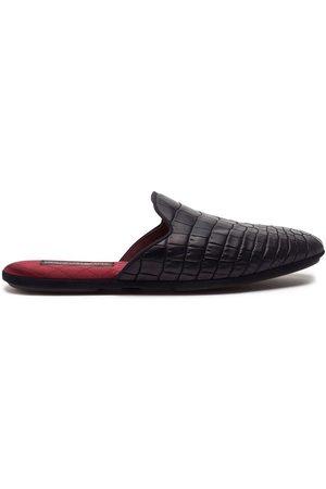 Dolce & Gabbana Slippers con efecto de piel de cocodrilo