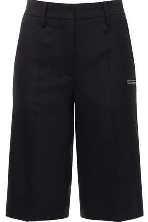 OFF-WHITE | Mujer Formal Twill Bermuda Shorts 36
