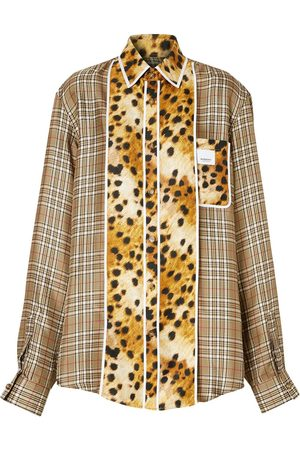 Burberry Camisa oversize a cuadros