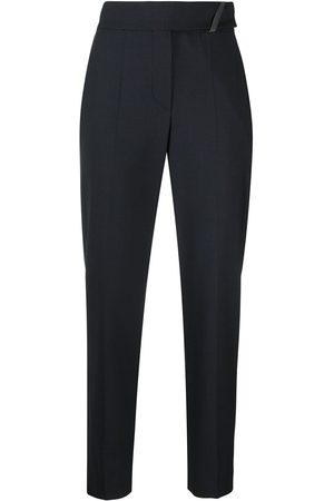 Brunello Cucinelli Pantalones capri de talle alto