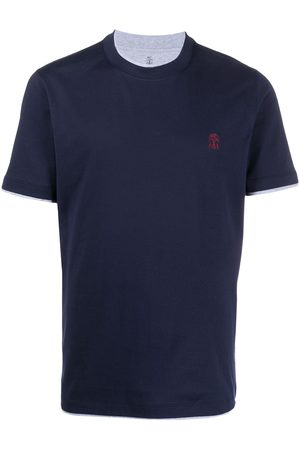 Brunello Cucinelli Camiseta con logo bordado