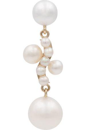 SOPHIE BILLE BRAHE Arete Petite Ocean Perle de oro de 14 ct y perla