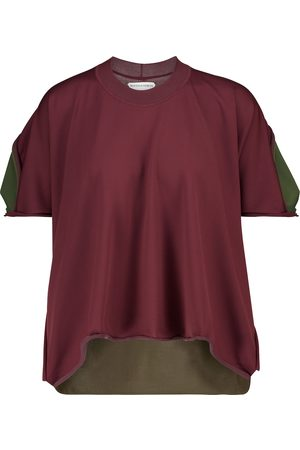Bottega Veneta Camiseta oversized bicolor