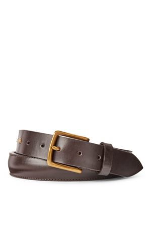 Polo Ralph Lauren Cinturón de cuero con hebilla de latón