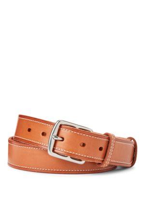 Polo Ralph Lauren Cinturón de piel con pespuntes