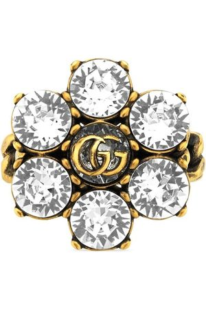 Gucci Anillo de doble G y cristales