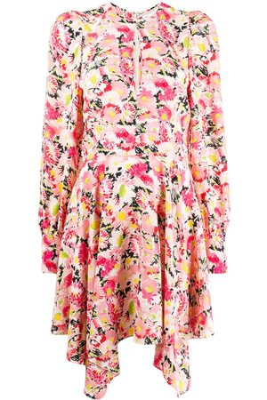 Stella McCartney Vestido asimétrico con motivo floral