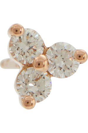 Maria Tash Mujer Pendientes - Arete único Trinity Large de oro rosa de 14 y diamantes