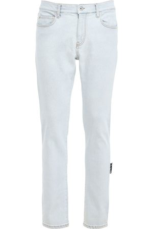 OFF-WHITE Hombre Pitillos - | Hombre Diag Pocket Bleached Denim Skinny Jeans 33