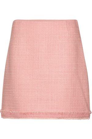 Tory Burch Minifalda de tweed mezcla de lana