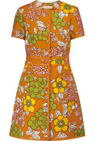 Tory Burch Vestido corto de sarga floral