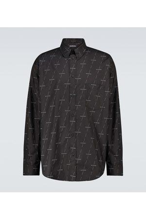 Balenciaga Camisa de algodón con logo
