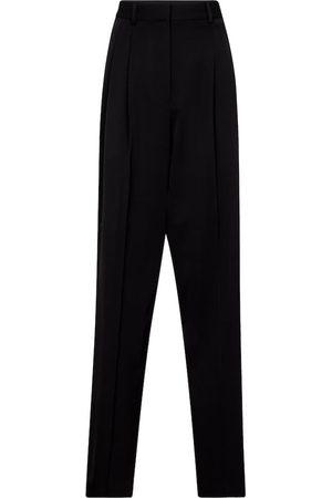 Stella McCartney Pantalones rectos de lana de tiro alto
