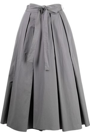 Prada Falda con pliegues y cintura lazada