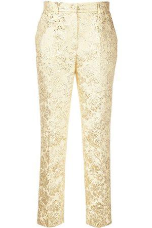 Dolce & Gabbana Pantalones de vestir con motivo barroco