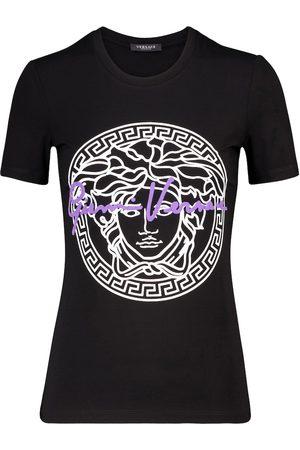 VERSACE Camiseta de algodón con logo