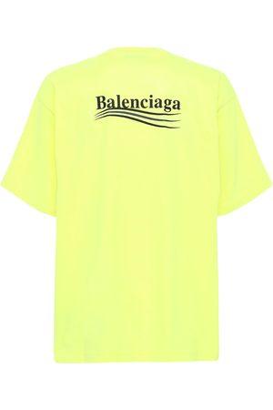 Balenciaga | Hombre Camiseta Con Cuello Redondo Y Logo Xs