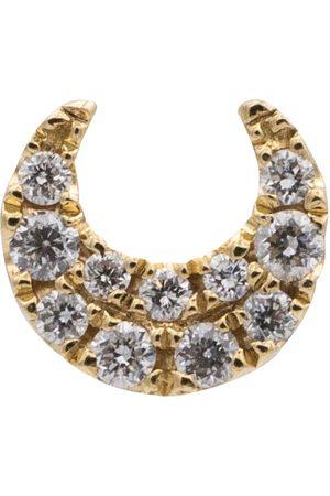 Maria Tash Arete único Moon de oro de 14 ct y diamantes