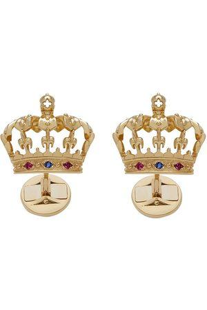 Dolce & Gabbana Gemelos con motivo de corona en oro amarillo de 18kt
