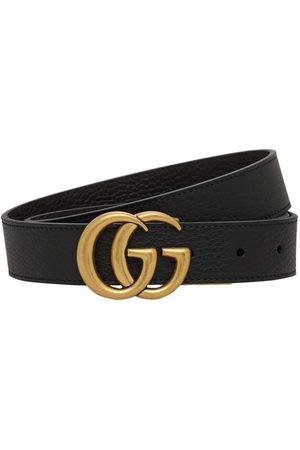 Gucci | Hombre Cinturón Gg Reversible De Piel 3cm /café 80