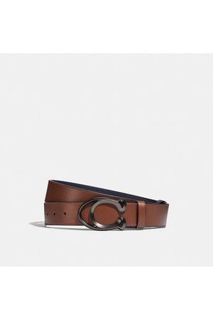 Coach Hombre Cinturones - Cinturón reversible cortado a medida con hebilla de firma de 38 mm - Size 42