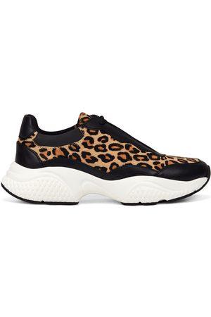 ED HARDY Zapatillas Insert runner-wild black/leopard para mujer