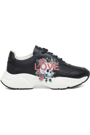 ED HARDY Zapatillas Insert runner-love black/white para mujer