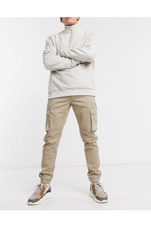 Only & Sons Pantalones piedra cargo de corte slim con bajos ajustados de -Neutro