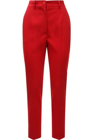 Dolce & Gabbana | Mujer Pantalones Cropped De Lana Stretch Cintura Alta /blanco 38
