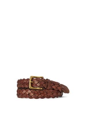 Polo Ralph Lauren Cinturón piel de becerro trenzado