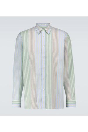 J.W.Anderson Camisa de algodón de rayas