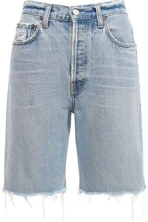 AGOLDE | Mujer Shorts Rectos Deshilachados Con Cintura Alta 24