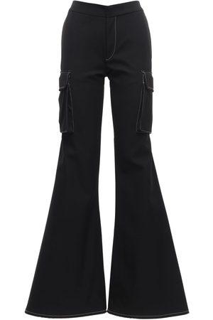 SUNNEI Mujer Pantalones cargo - | Mujer Pantalones Cargo Utility Loose Fit Acampanados Xs