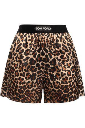 Tom Ford Mujer Estampados - | Mujer Shorts De Satén De Seda Con Estampado Leopardo Xs