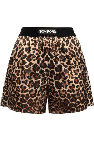 Tom Ford Mujer Estampados - | Mujer Shorts De Seda Satén Con Estampado Animal Xs
