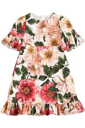 Dolce & Gabbana | Niña Vestido De Cady Con Estampado Floral 8a