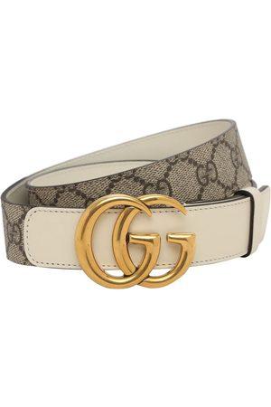 "Gucci Mujer Cinturones - | Mujer Cinturón ""gg Marmont Supreme"" 3cm /white 70"