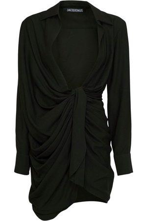 Jacquemus | Mujer Vestido De Viscosa Drapeada Con Lazo 32