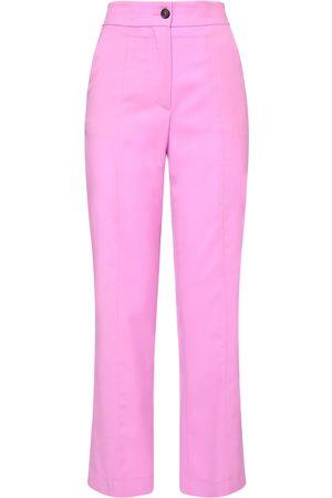 Msgm | Mujer Pantalones Rectos De Lana 38