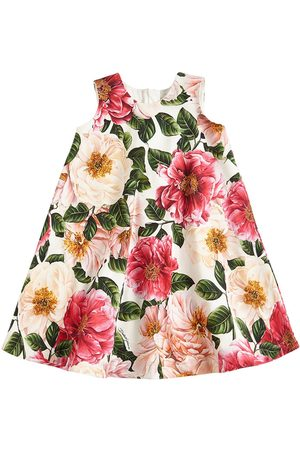 Dolce & Gabbana | Niña Vestido De Algodón Interlock Estampado 8a