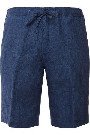 Loro Piana   Hombre Shorts Bermuda De Lino Con Cordones S