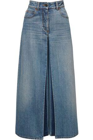 VALENTINO Mujer Cintura alta - | Mujer Jeans Anchos De De Algodón 24