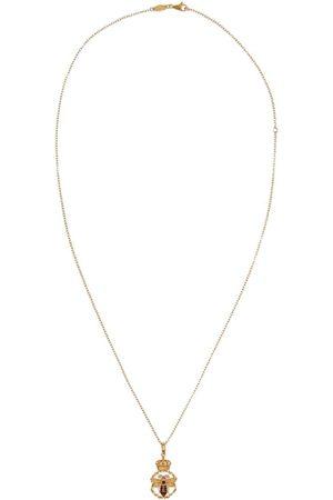 Dolce & Gabbana Collar en oro amarillo de 18kt con diamante y colgante King