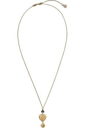 Dolce & Gabbana Collar en oro amarillo de 18kt con colgante de corazón y zafiros